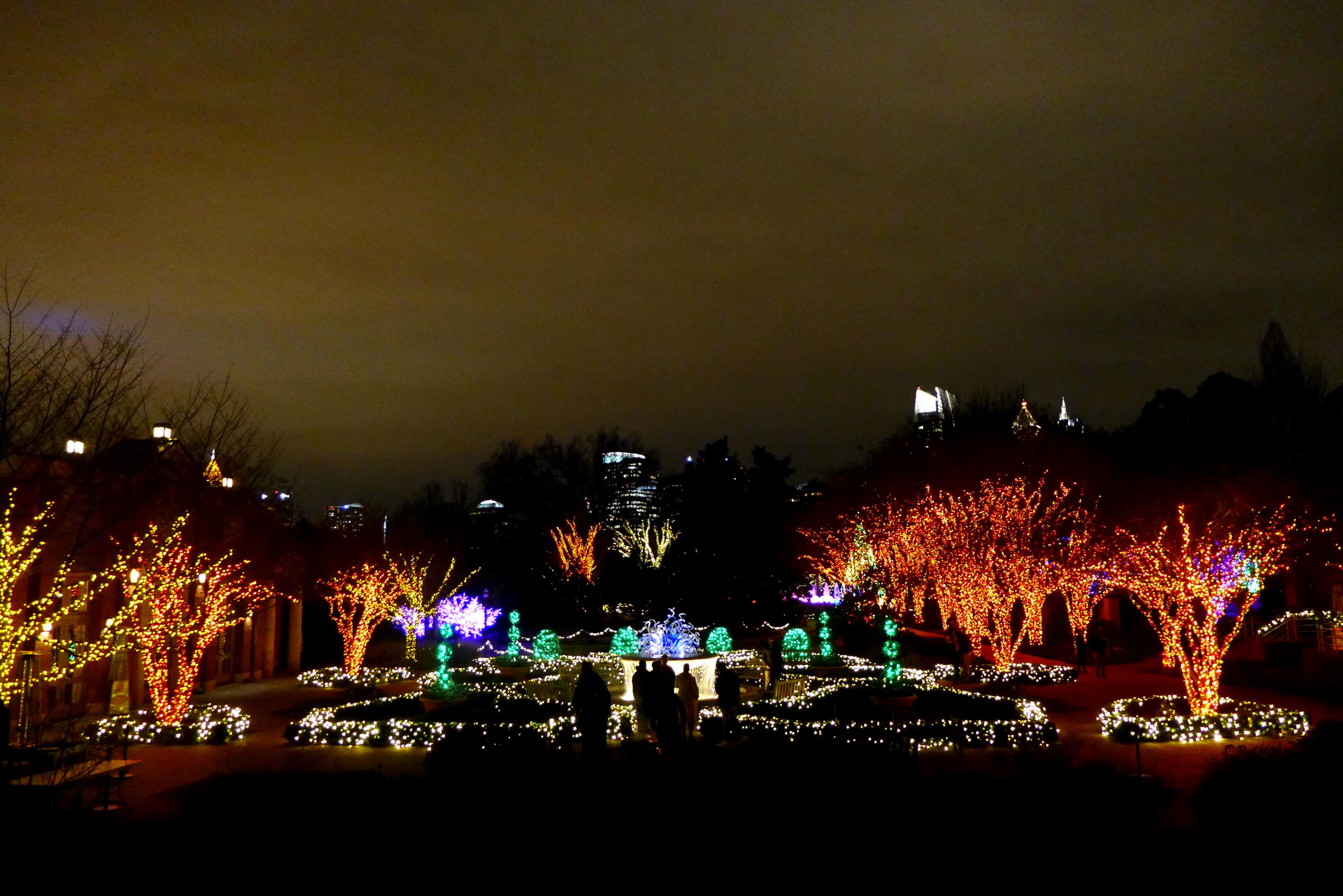 Fancy Botanical Gardens Atlanta Christmas Lights Elaboration - Brown ...